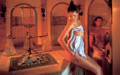 Sauna fińska i sauna infrared w jednej kabinie.